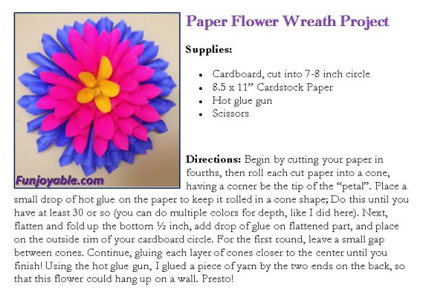 Make a Beautiful Paper Flower Wreath