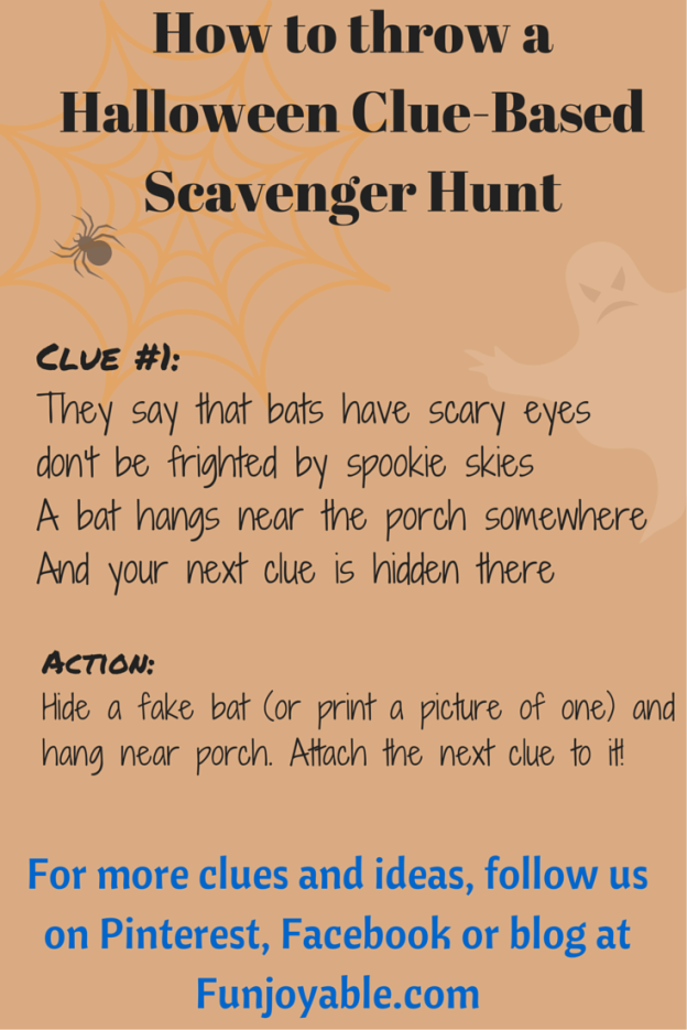Halloween Themed Scavenger Hunt | Funjoyable